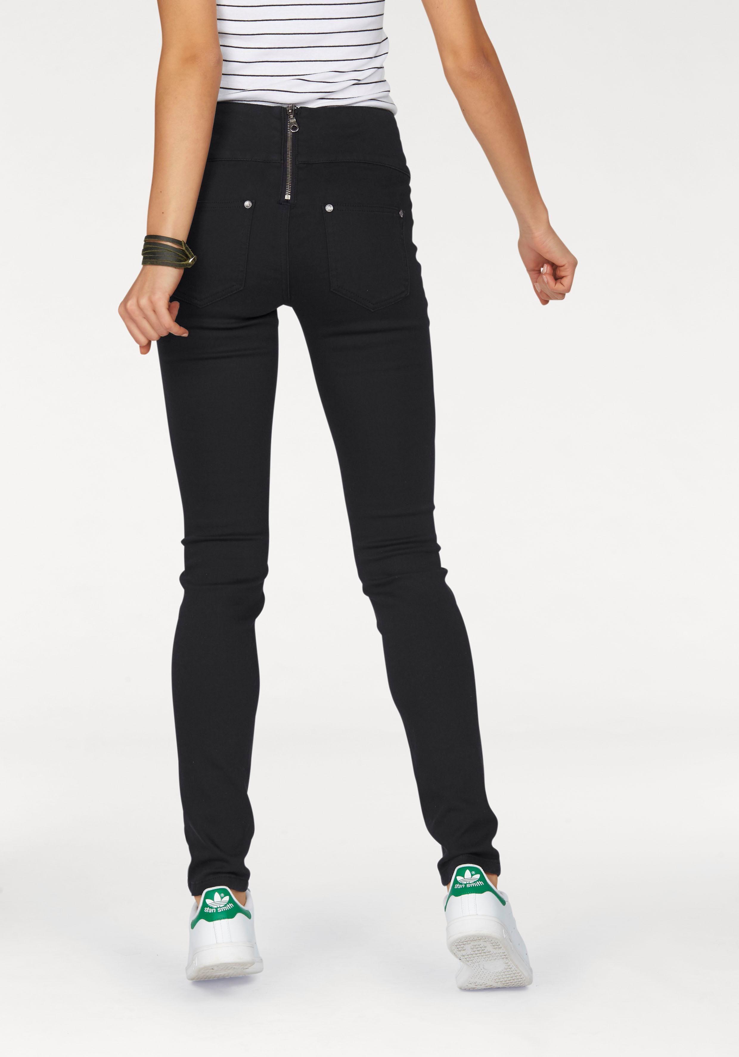 AJC SlimfitJeans highwaisted mit Reiverschluss hinten online kaufen  OTTO