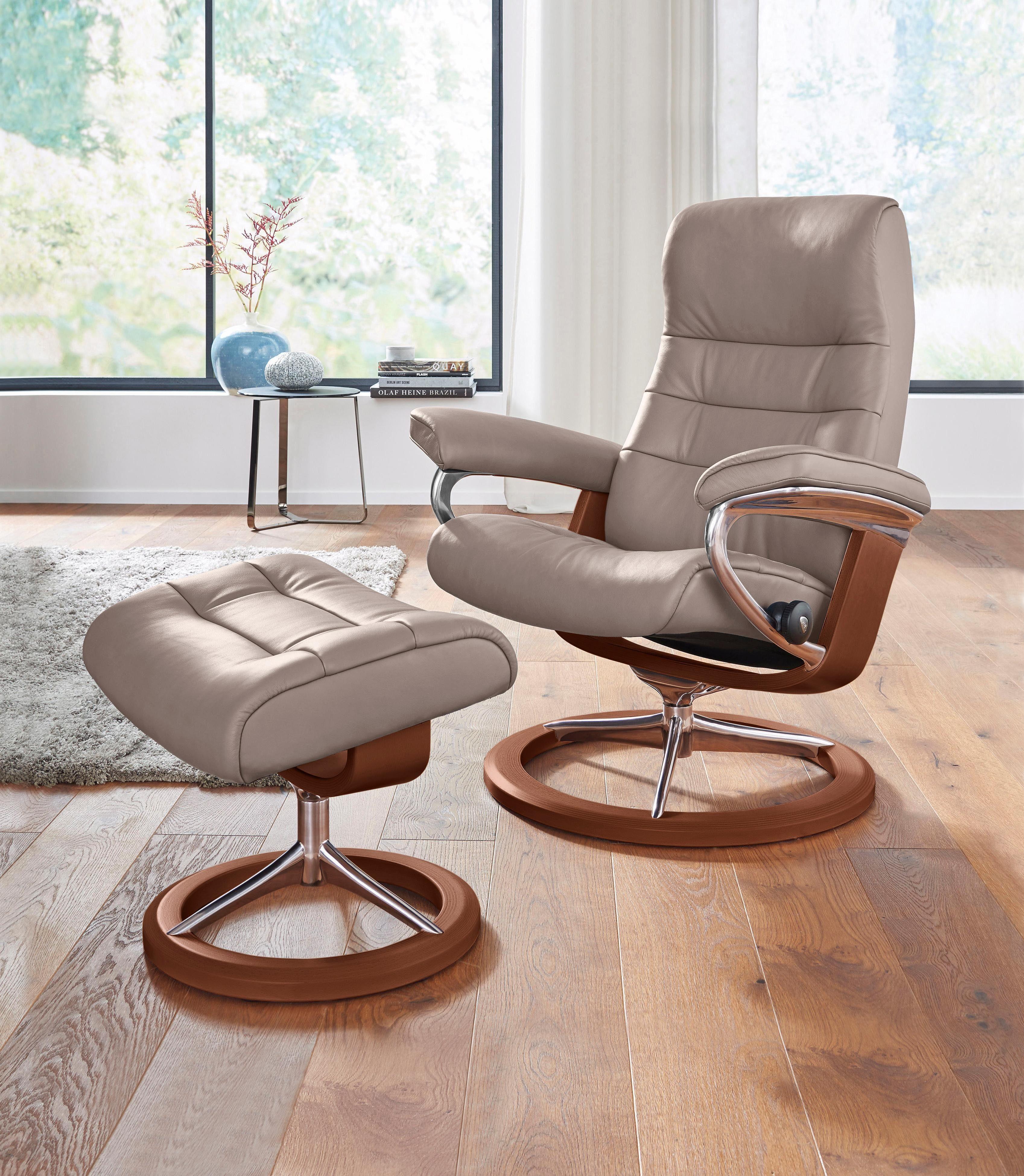 Stressless Set Relaxsessel mit Hocker Opal mit Signature Base Gre M mit Schlaffunktion