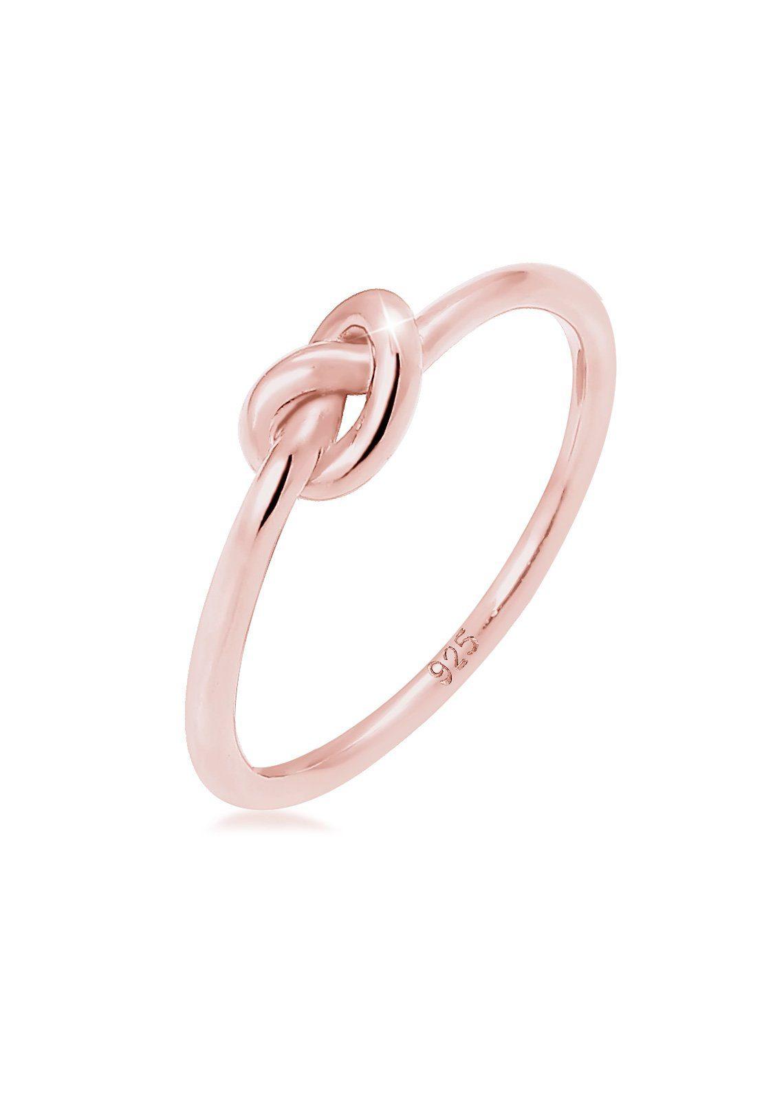 Elli Ring Knoten Verknotet Trend Basic 925 Silber ros