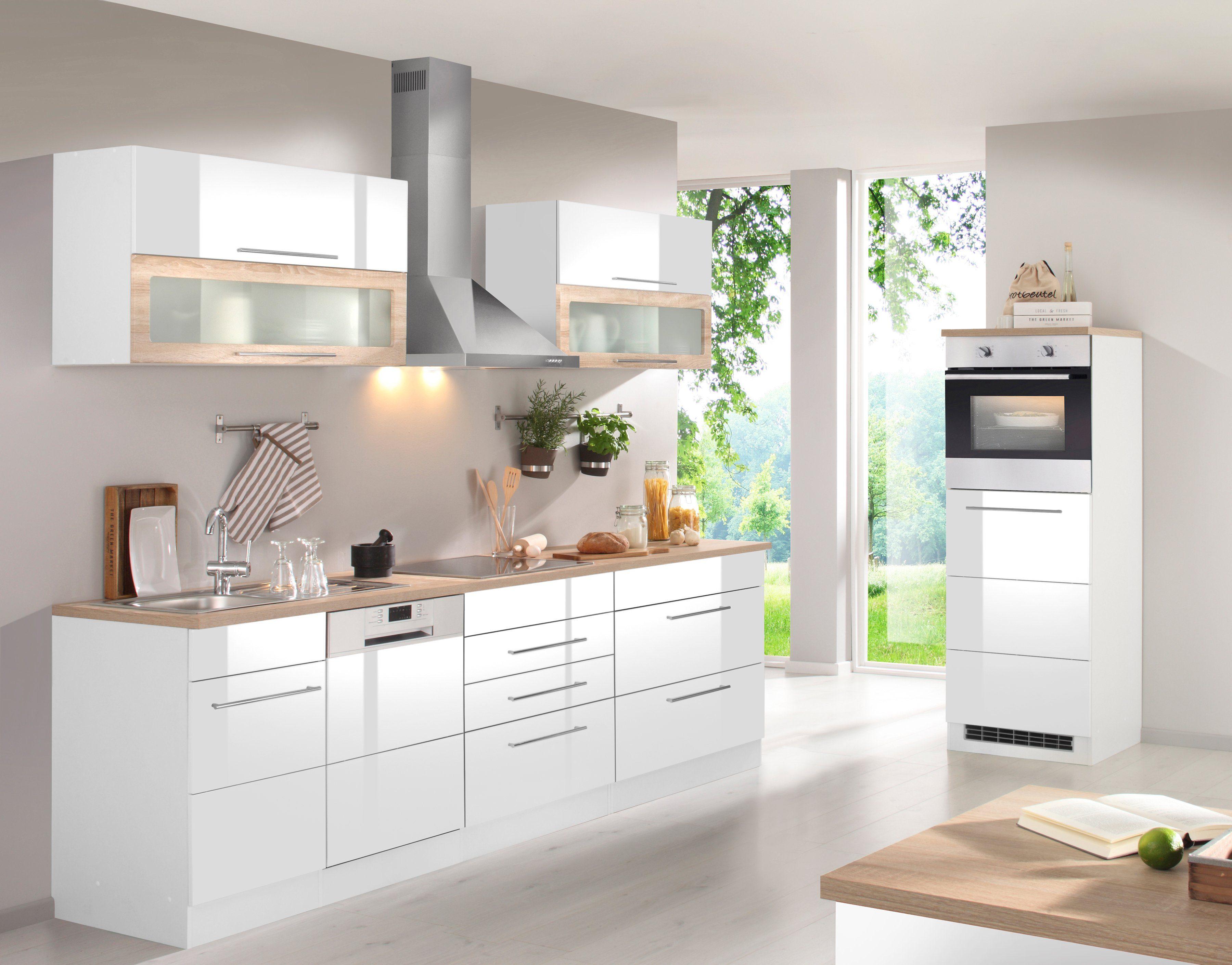 HELD MÖBEL Küchenzeile mit E Geräten , Breite 350 cm ...