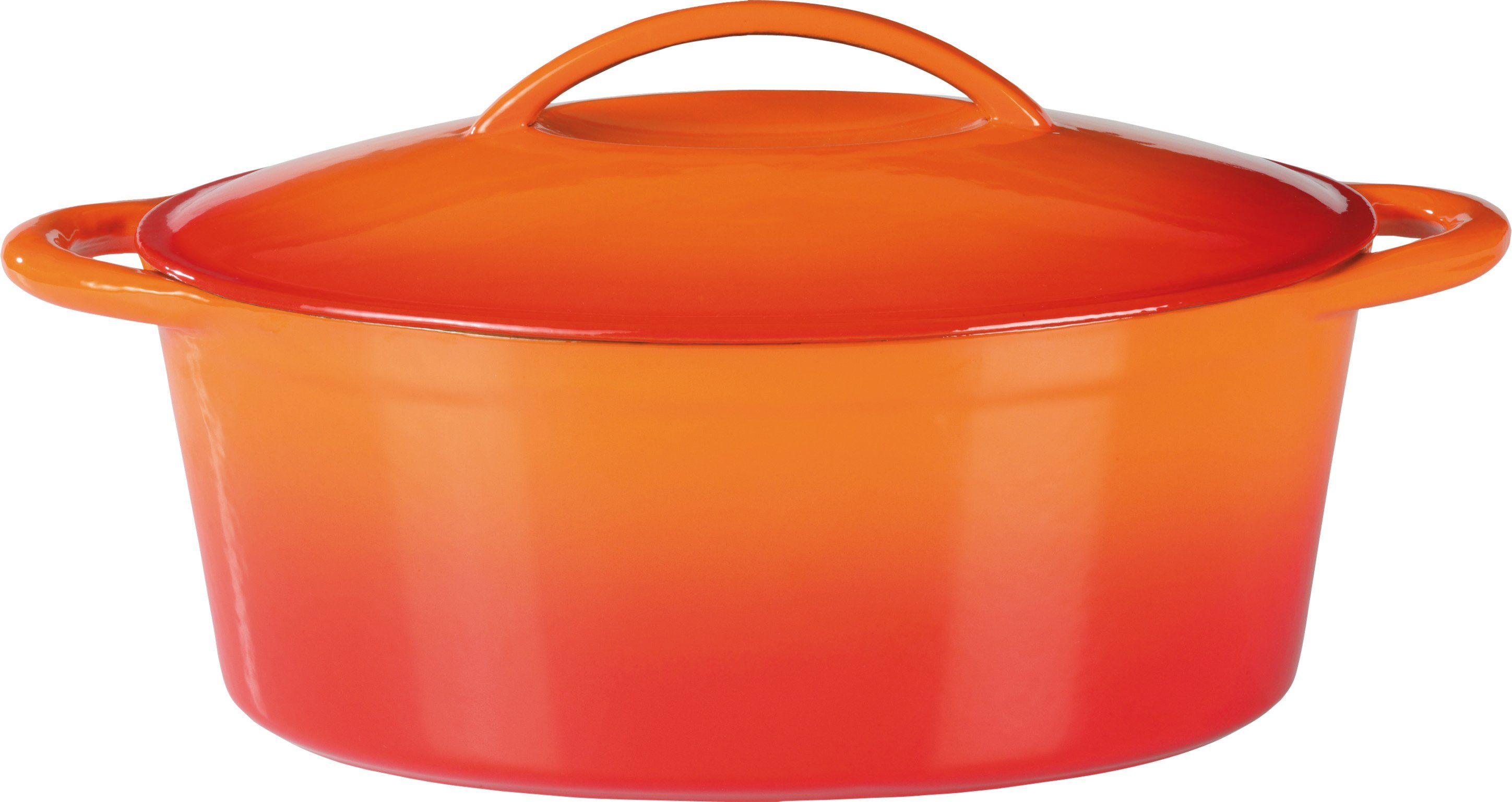 Gsw Bräter Gusseisen Induktion Orange Shadow 7 Liter