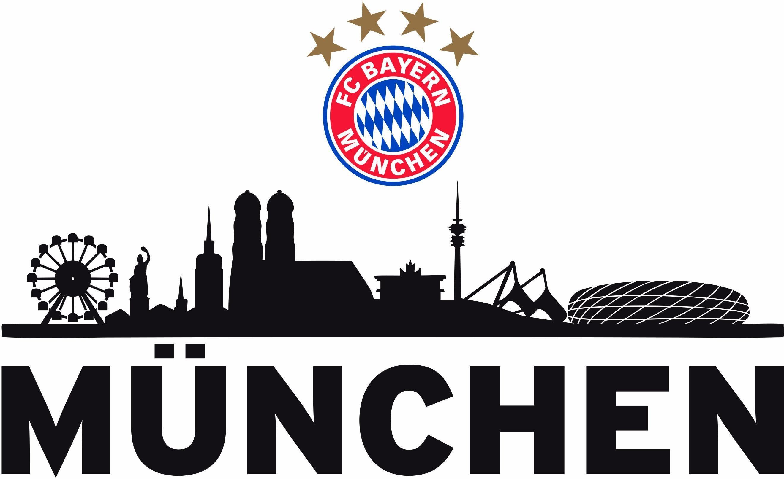 Wandtattoo FC Bayern Skyline in 4 Gren kaufen  OTTO
