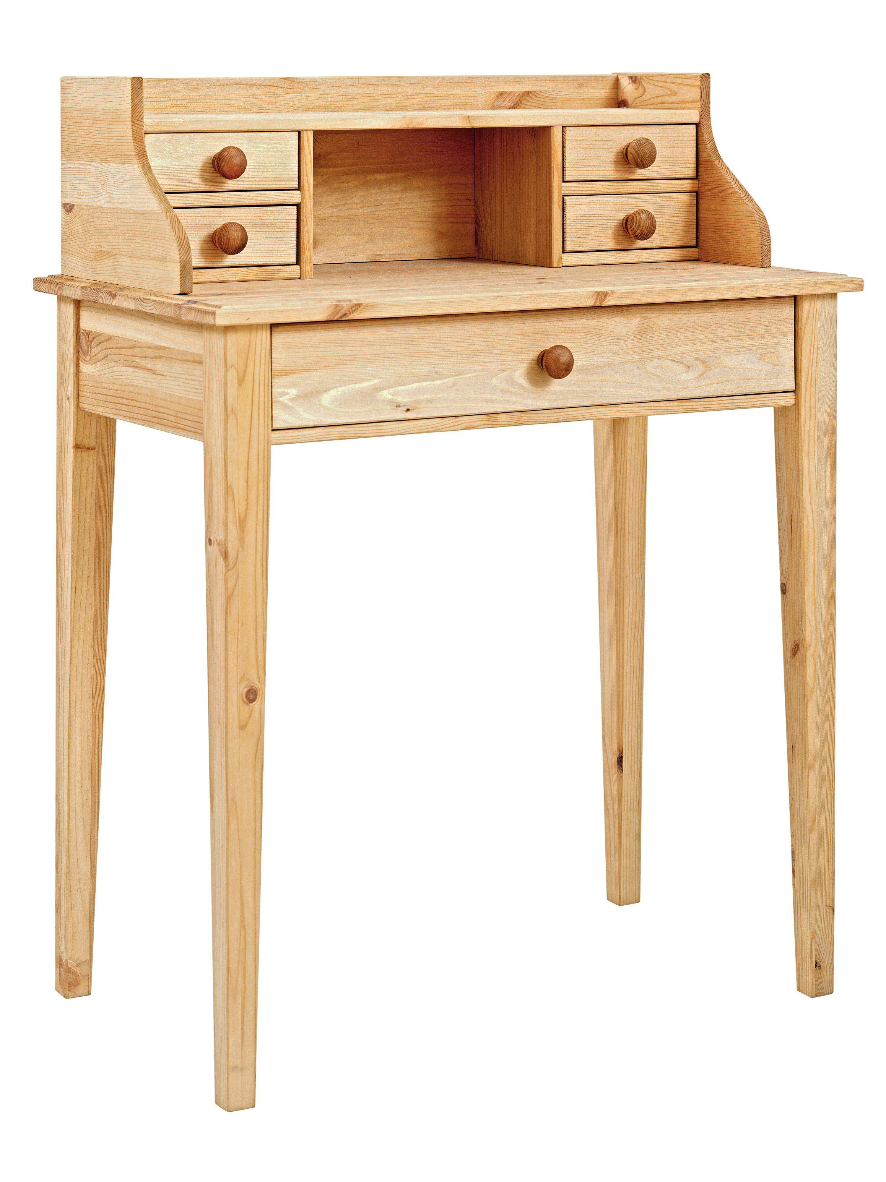 heine home Schreibtisch, Aus massivem Kieferholz online ...