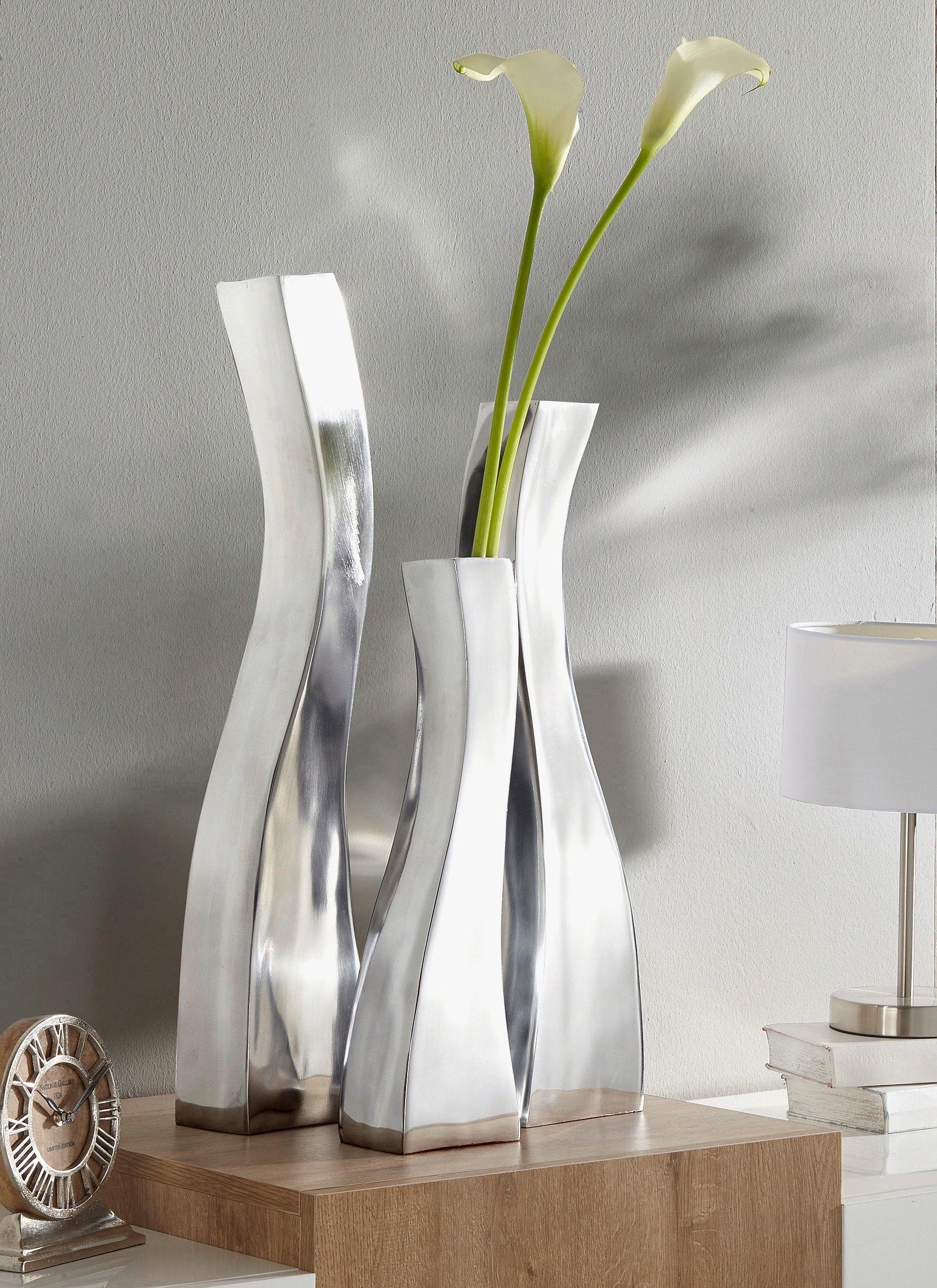 Premium collection by Home affaire Aluminium Vasen Welle