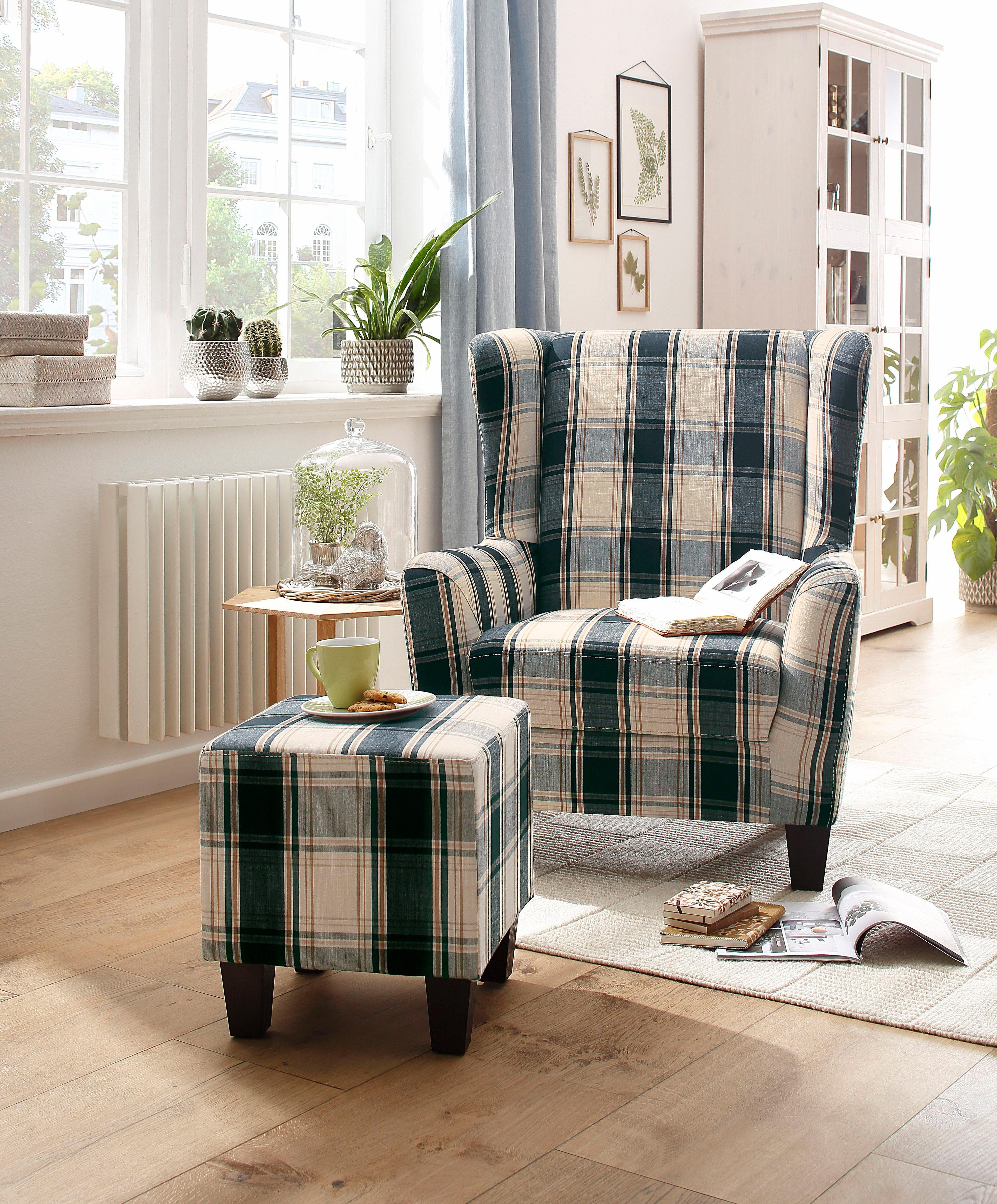 Home affaire Sessel-Set CHILLY, in karo blau