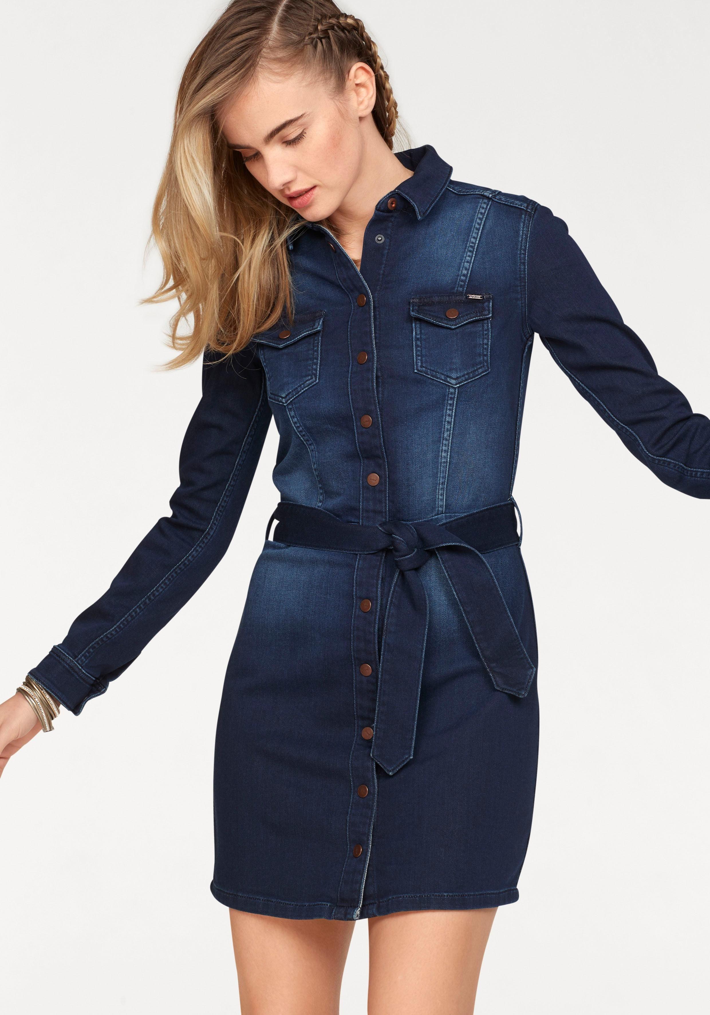Pepe Jeans Jeanskleid NICOLE aus weichem Sweatdenim