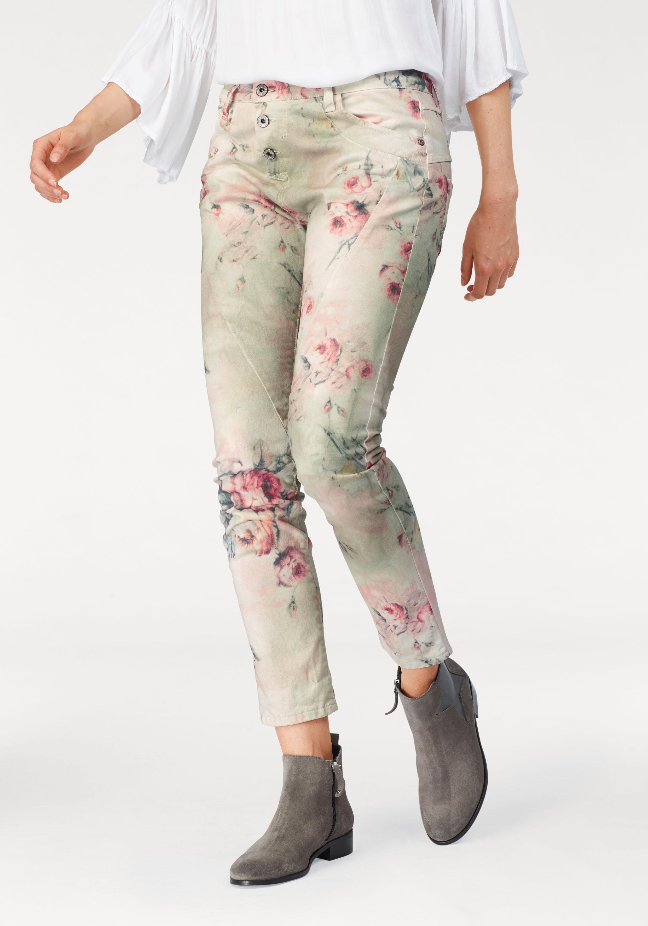 Please Jeans BoyfriendHose P78A mit Flower