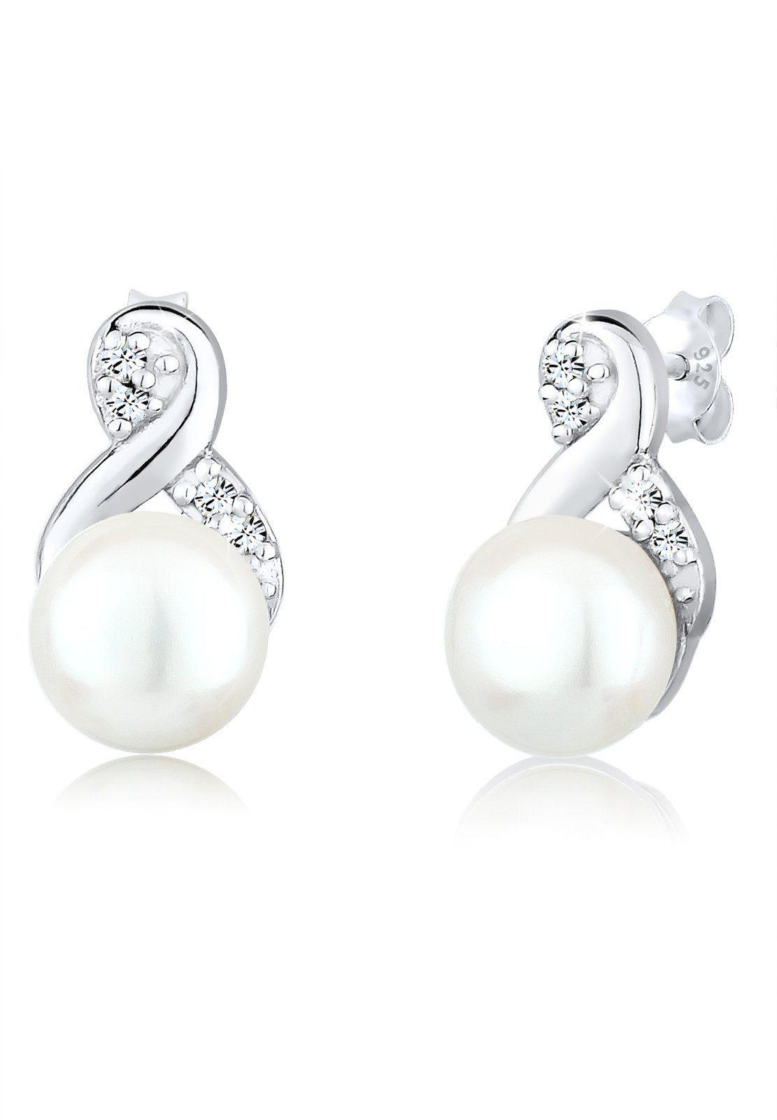 Perlu Ohrringe »perle Infinity Swarovski® Kristalle 925