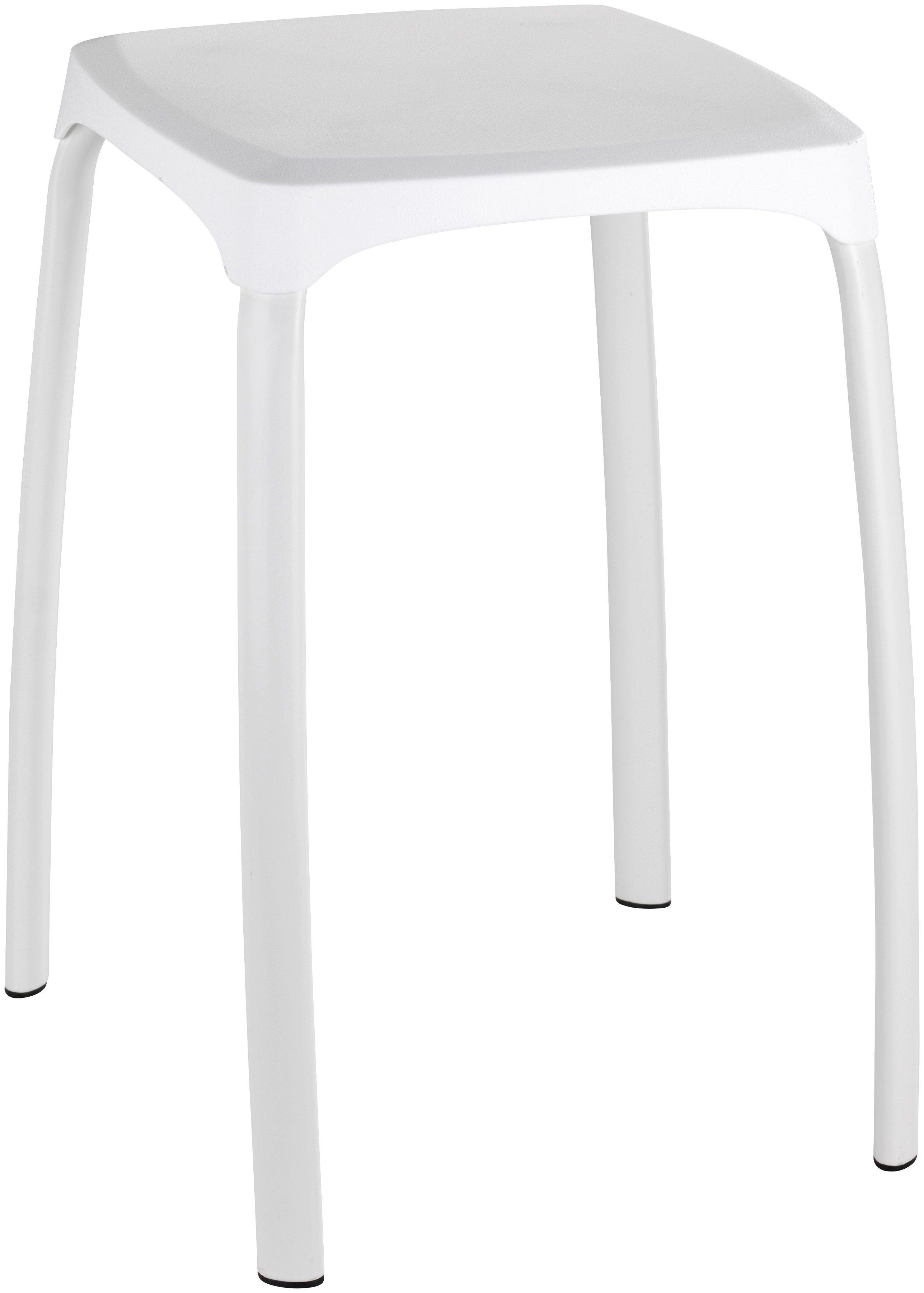 WENKO Badhocker Losani wei Mit leicht strukturierter Kunststoffsitzflche online kaufen  OTTO