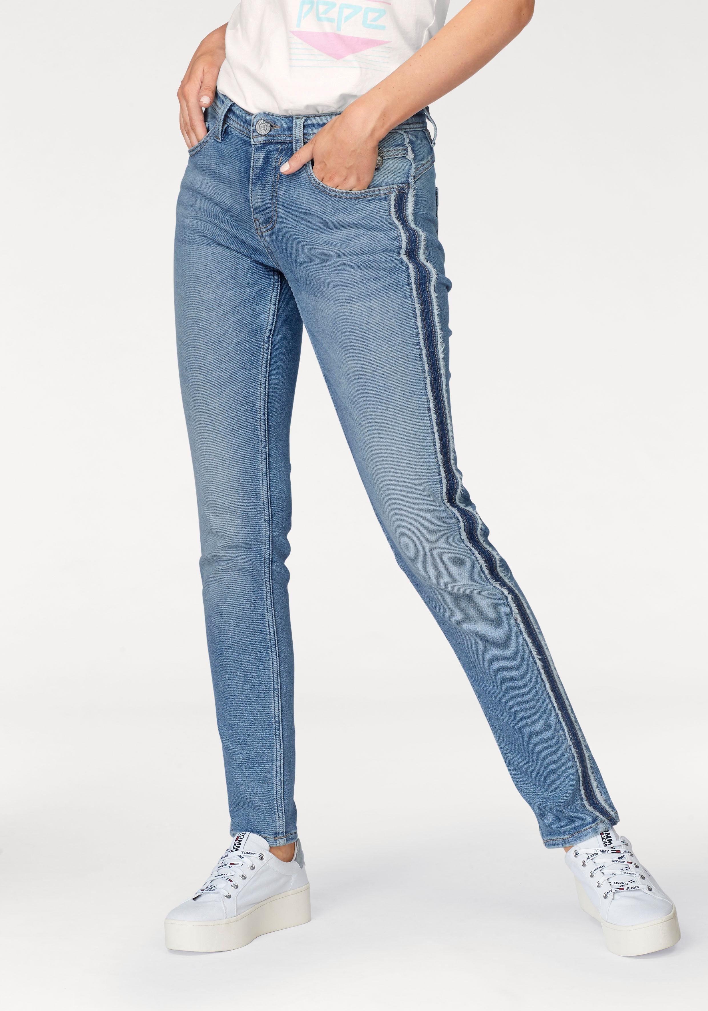 BLUE FIRE SlimfitJeans ALEXA mit Seitenstreifen im Used Look online kaufen  OTTO