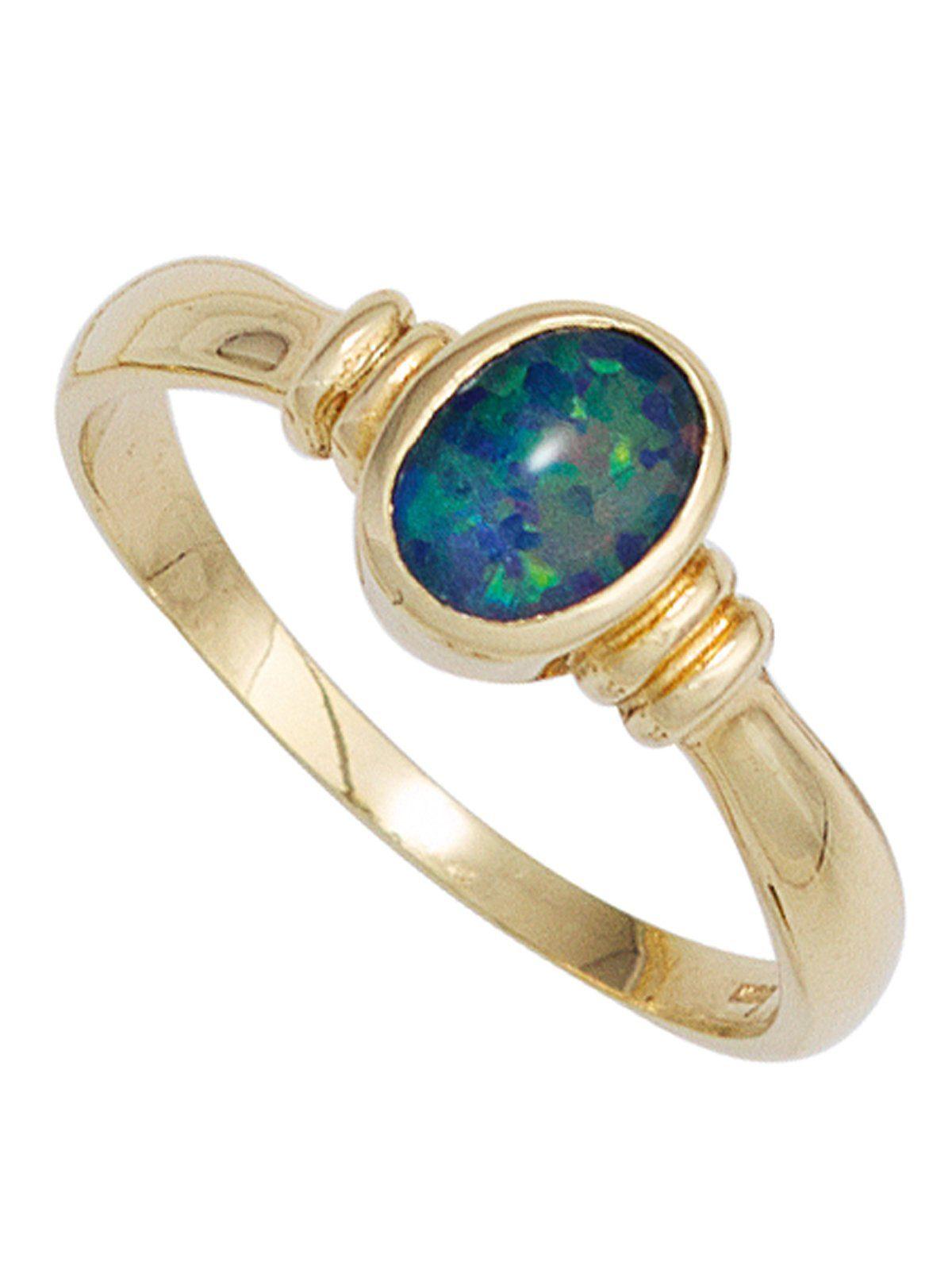 Adelias Goldring 585 Gold mit Opal online kaufen  OTTO