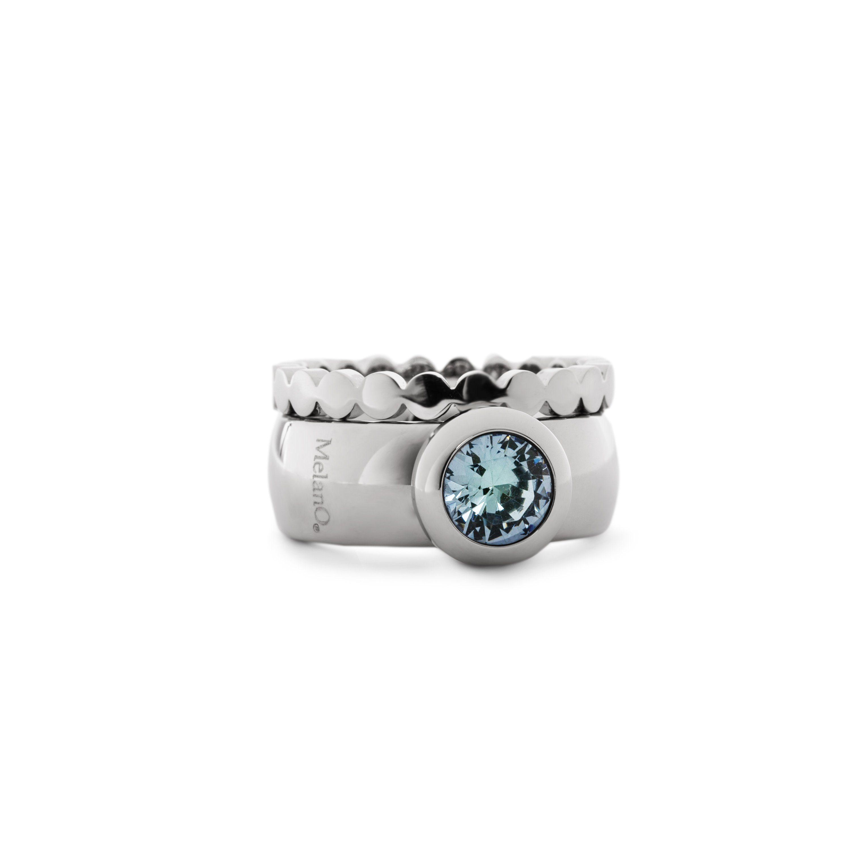 melano Ring mit Steinbesatz Modischer Damenring im