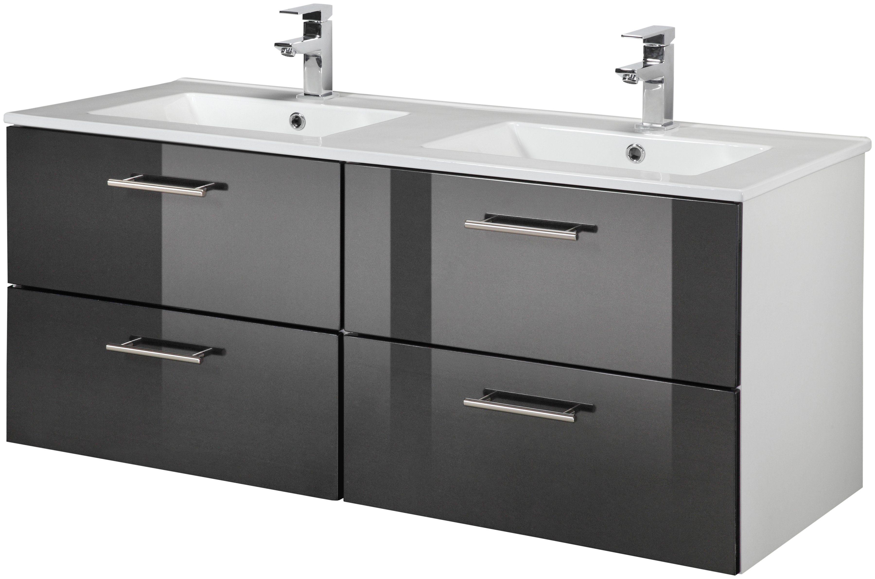 Waschtisch Trento Breite 120 cm Doppelwaschtisch  Doppelwaschbecken 2tlg online kaufen
