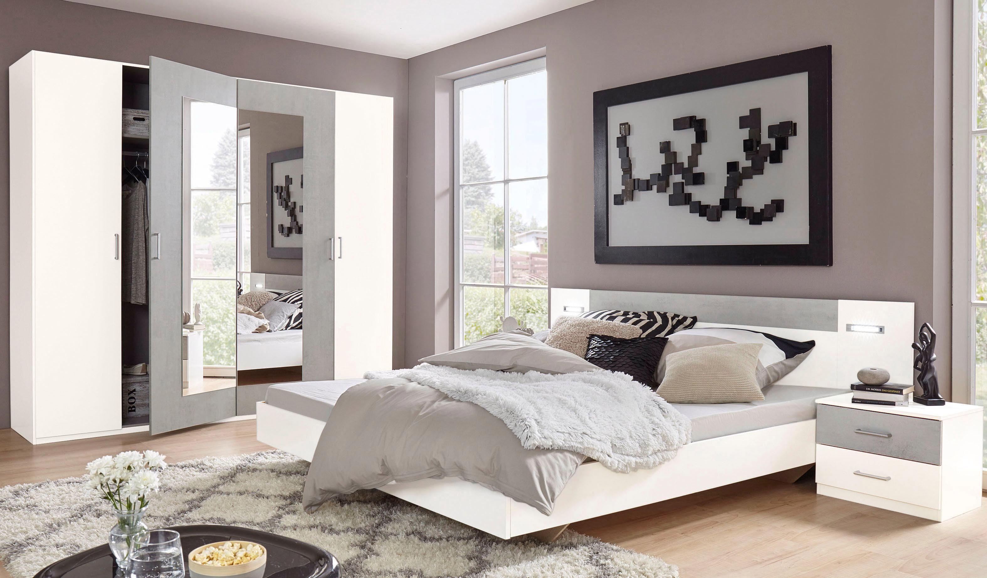 Wimex SchlafzimmerSet Angie 4teilig Set aus Schrank Bett und 2 Nachttischen online kaufen