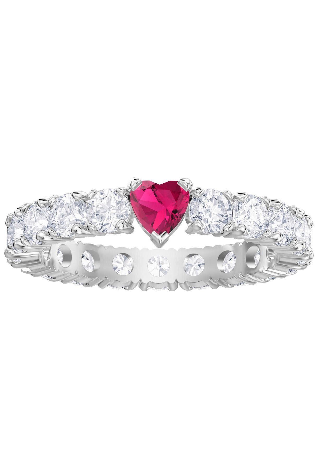Swarovski Fingerring Herz Love Ring weiss rhodiniert 5412065 5412016 5391767 5412054
