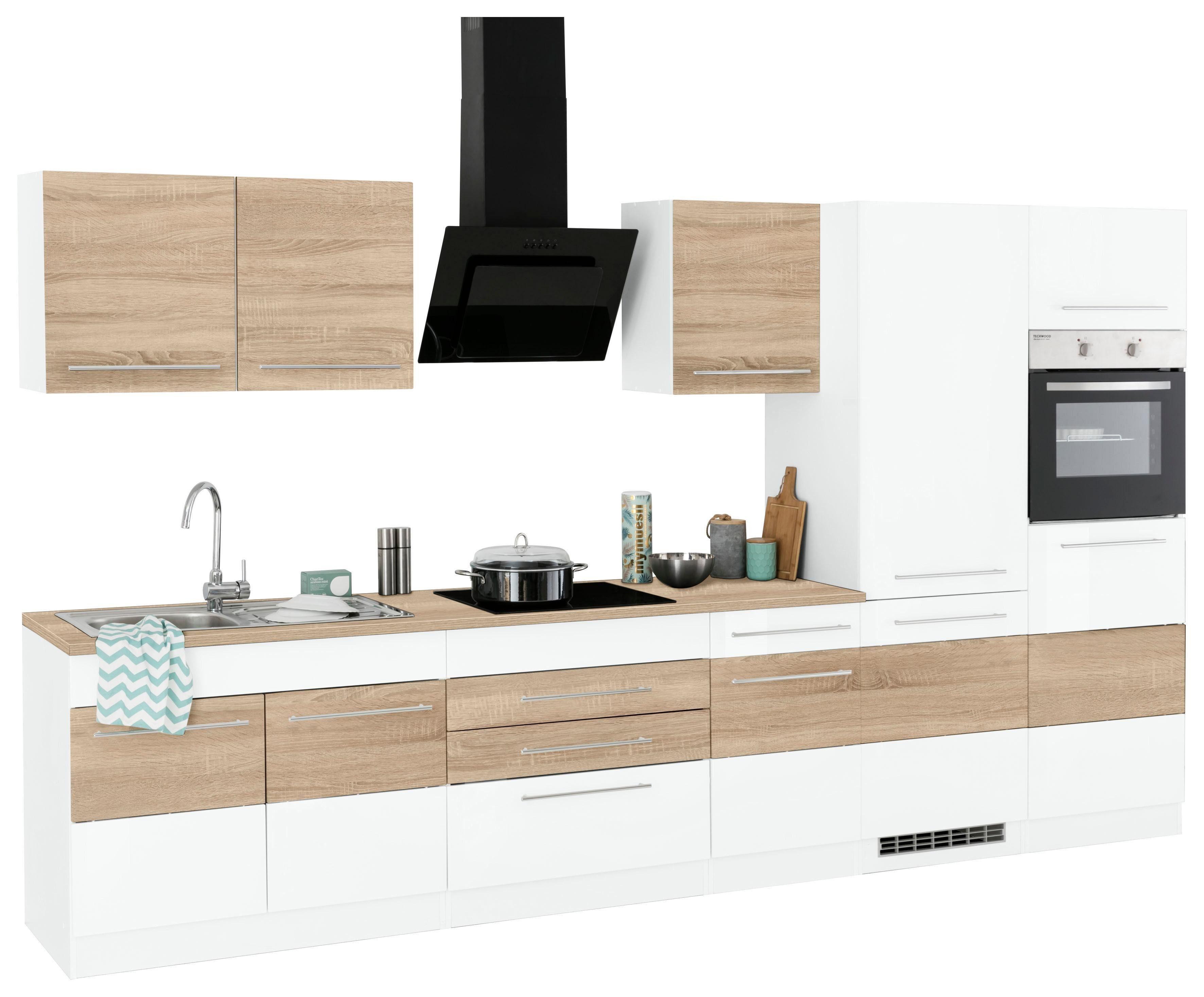 HELD MÖBEL Küchenzeile mit E Geräten »Trient«, Breite 350 ...