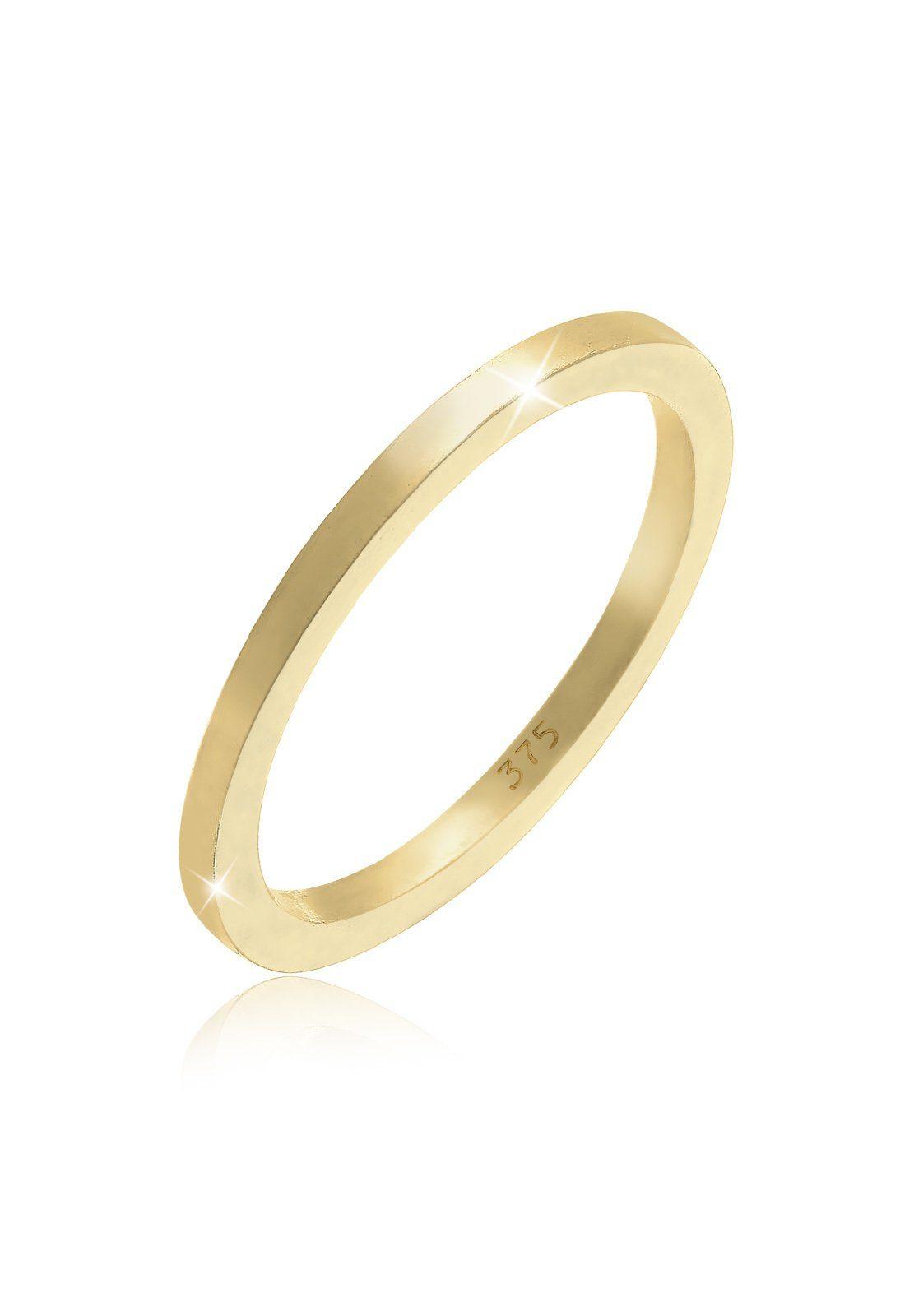 Elli Fingerring Basic Ehering 375 Gelbgold  OTTO