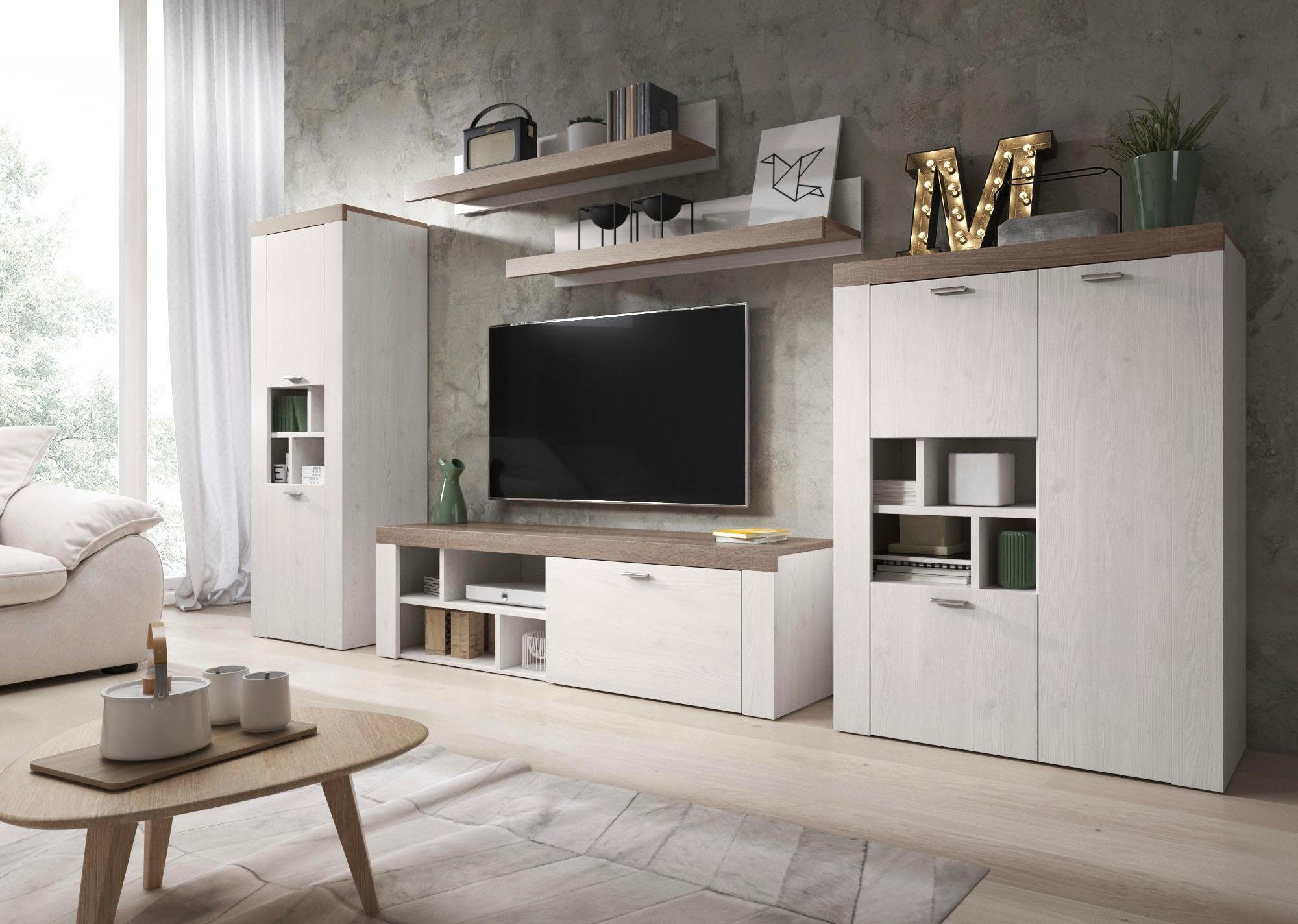 Wohnzimmer Schwarz Holz
