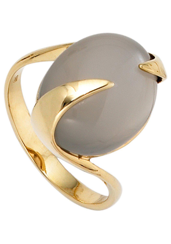 JOBO Goldring 585 Gold mit Mondstein online kaufen  OTTO