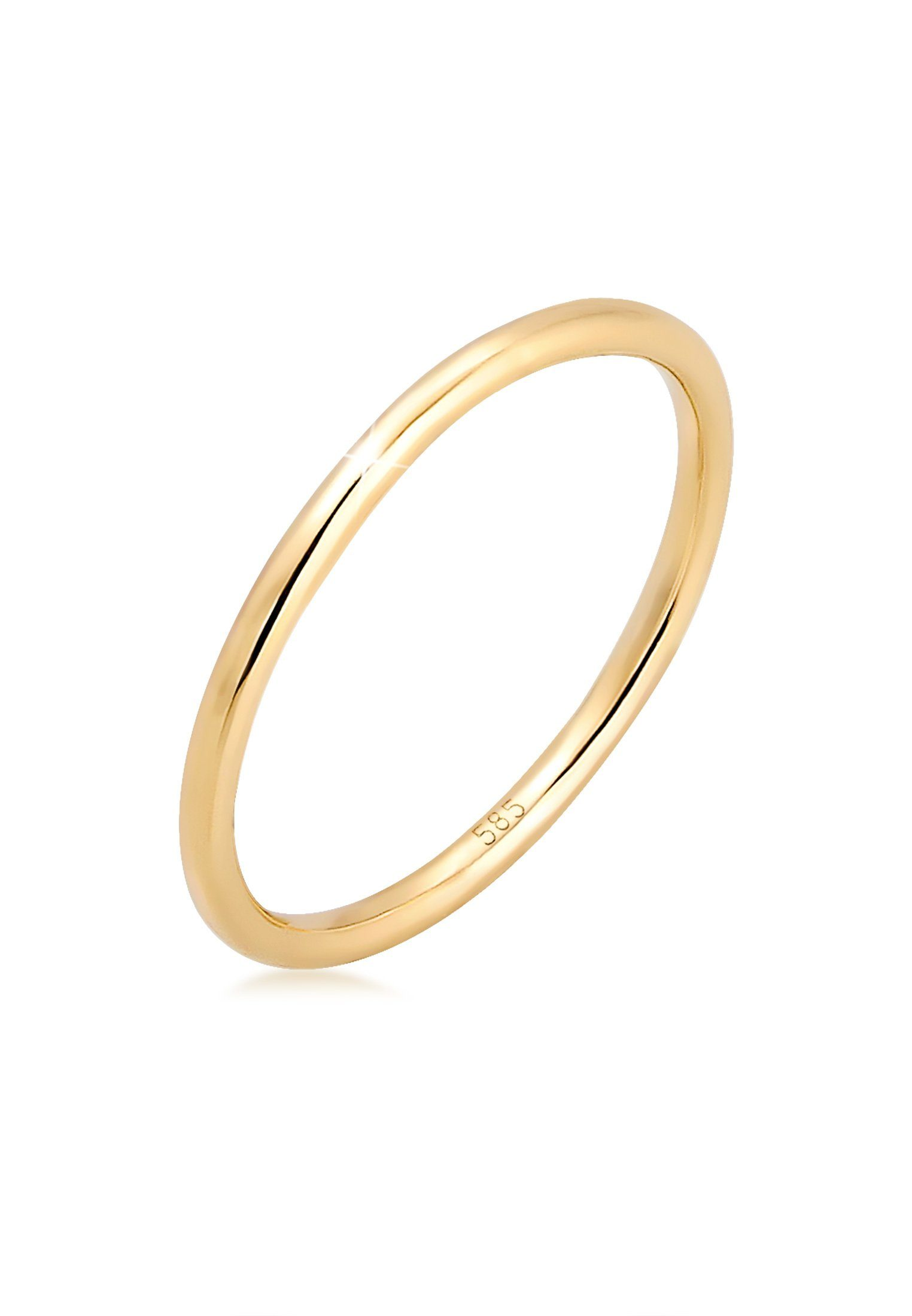 Elli Fingerring Bandring Ehering Trauring Hochzeit 585er