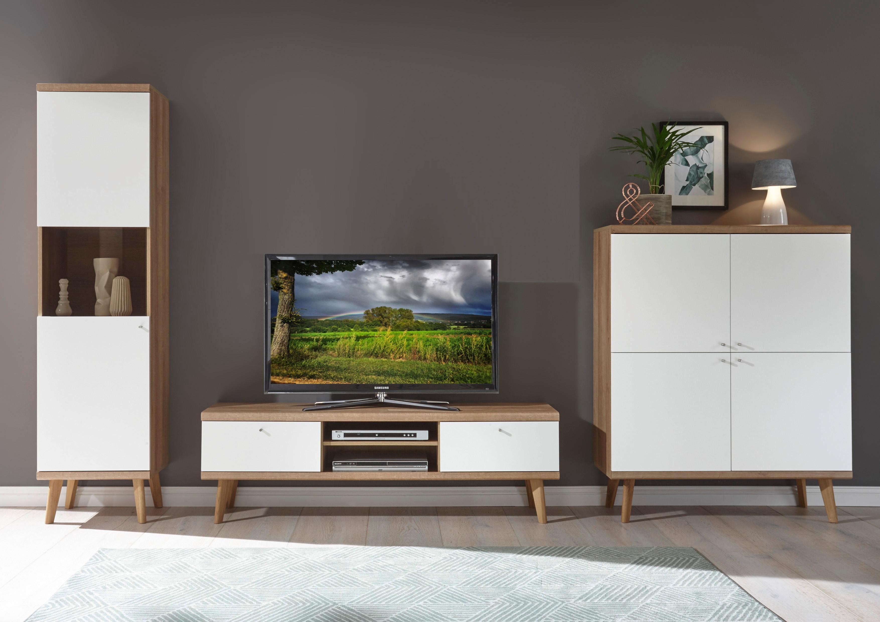 andas Wohnwand Merle im skandinavischen Design 3tlg Aus der freundin Home Collection 2019