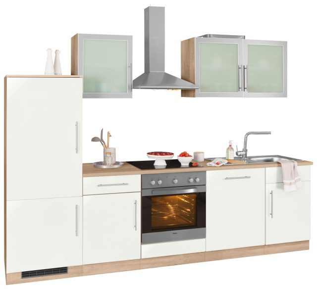 wiho Küchen Küchenzeile »Aachen«, mit E-Geräten, Breite 280 cm online  kaufen | OTTO