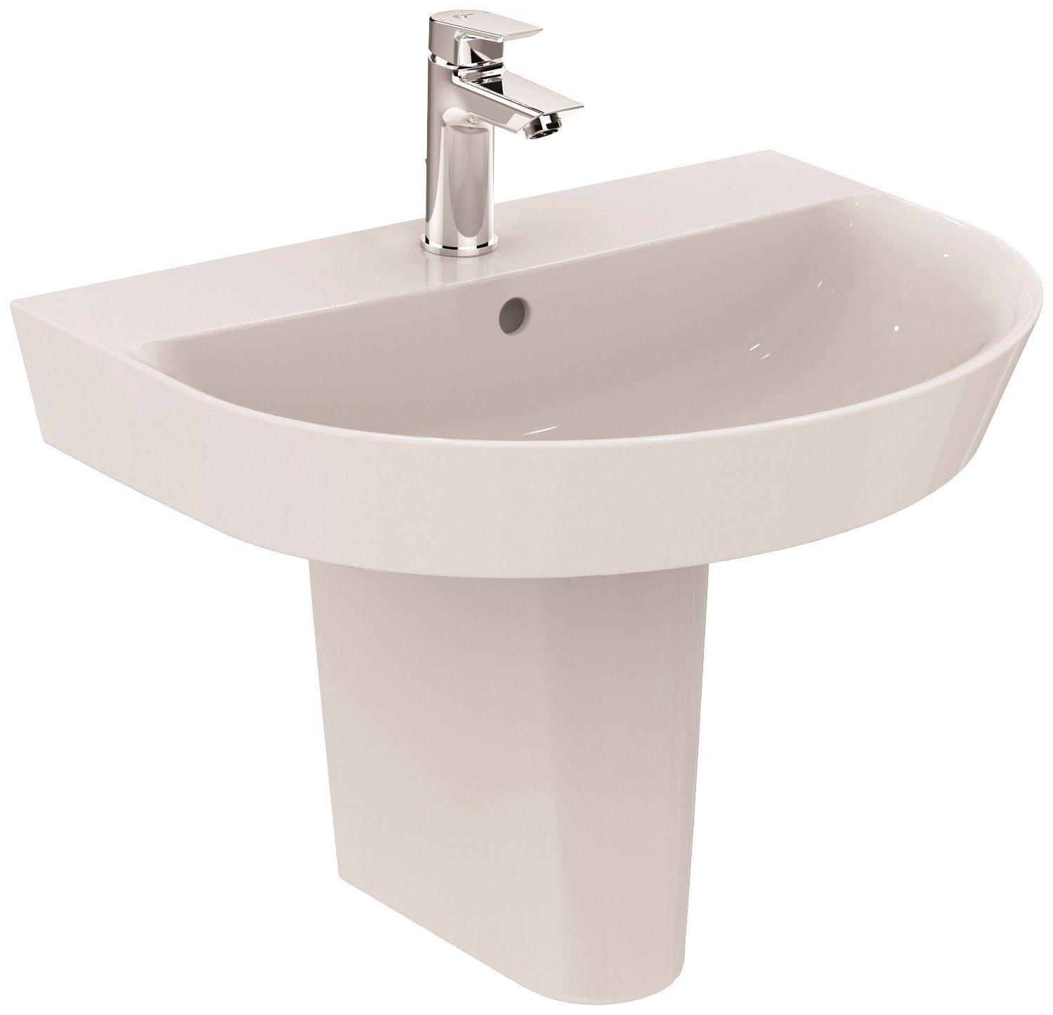 Einbauwaschbecken Oval 60 Waschbecken Set Waschtisch Prima 60 X 49