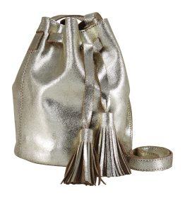 Tasche in Beutelform mit Quasten