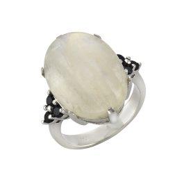 Zeeme Ring »925/- Sterling Silber Mondstein und Spinell«