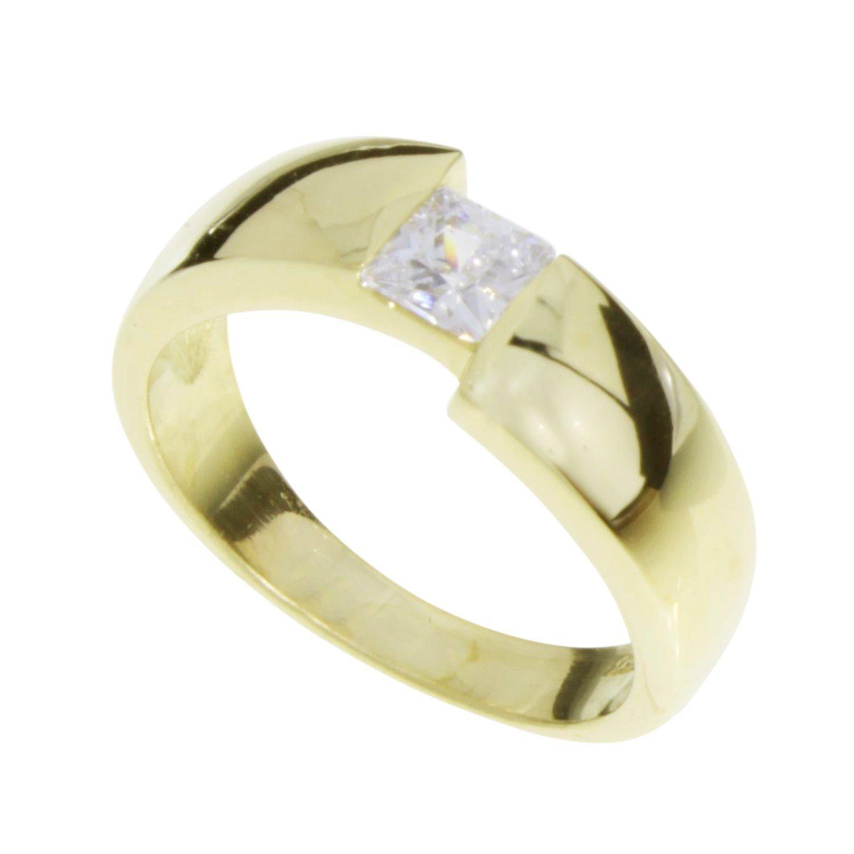 OSTSEESCHMUCK Fingerring Unni Gold 333000 Zirkonia