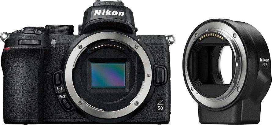 Nikon »Z50 Body + FTZ Objektivadapter« Systemkamera (20,9 MP, Bluetooth, WLAN (Wi-Fi) online kaufen   OTTO
