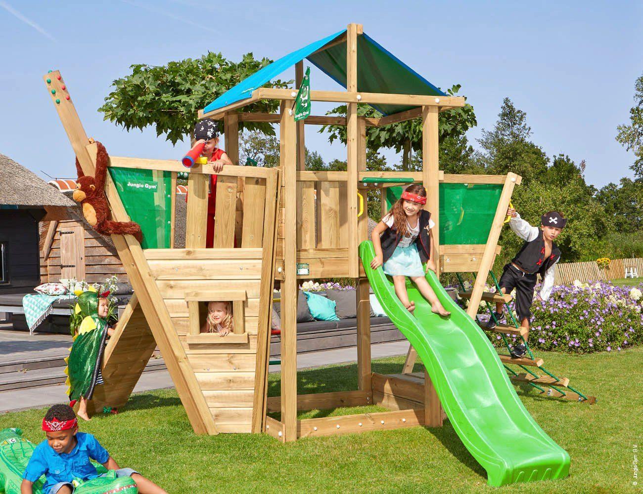 Jungle Gym Spielturm »Jungle Hut Boat«, BxTxH 220x320x290 ...