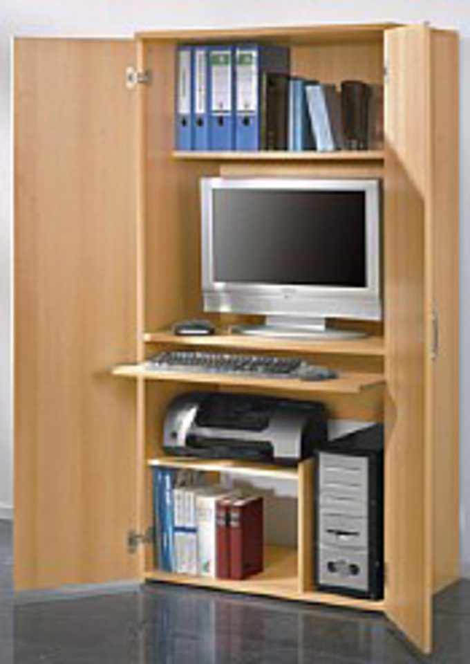 PCSchrank Hhe ca 161 cm mit Tastaturauszug und