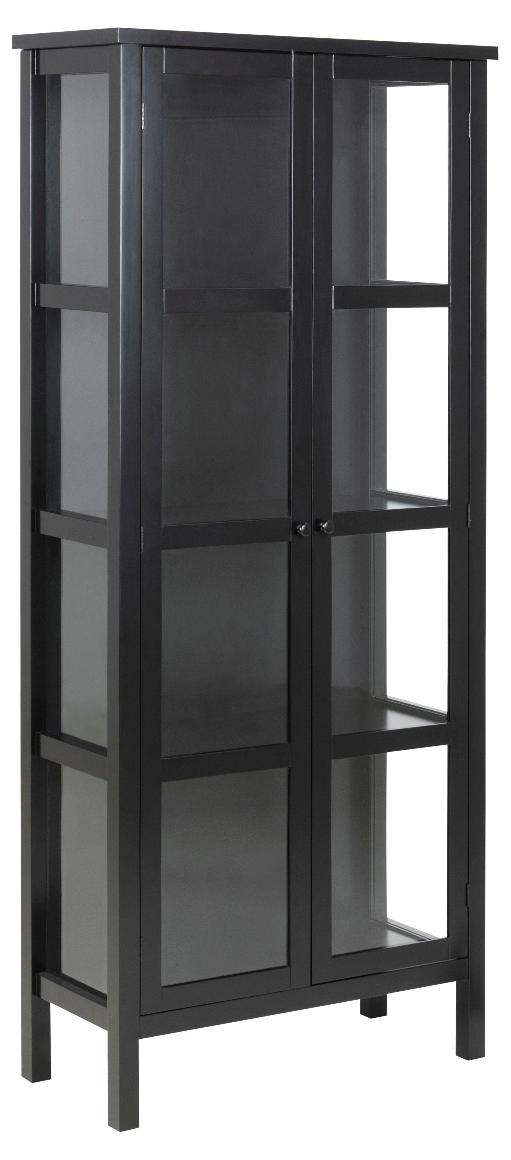 ebuy24 Vitrine »Etor Vitrinenschrank mit 2 Glastüren schwarz.« online kaufen   OTTO
