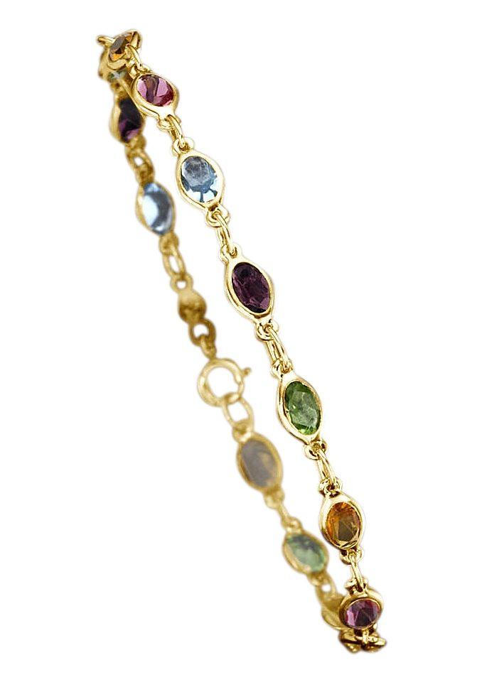 Goldkette mit bunten steinen  Modischer Schmuck 2018