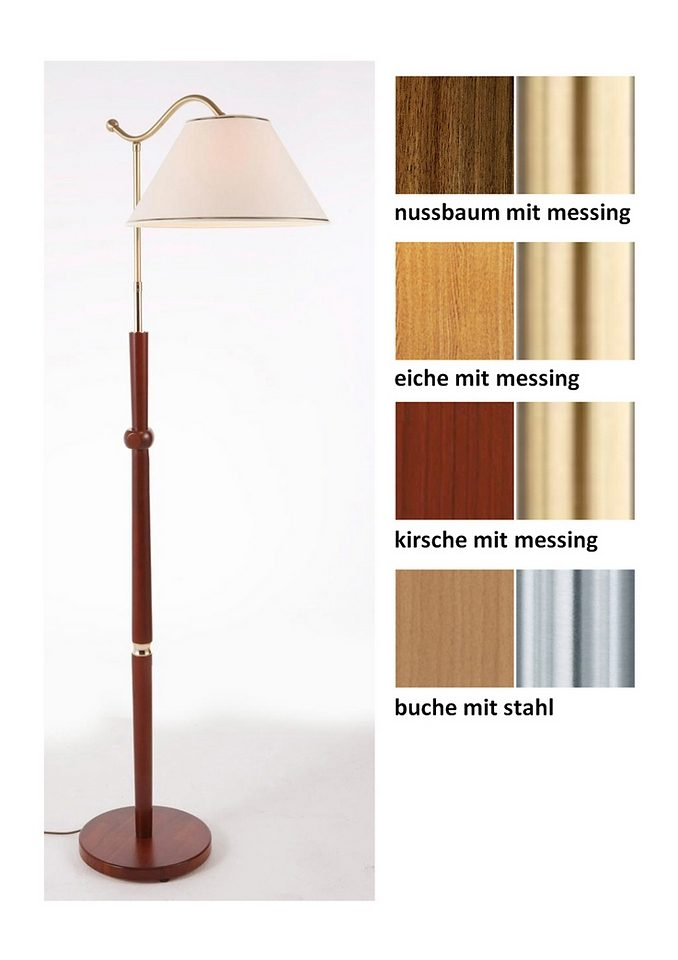 HolzStehlampe 1flg in 4 Farben inkl Leuchtmittel