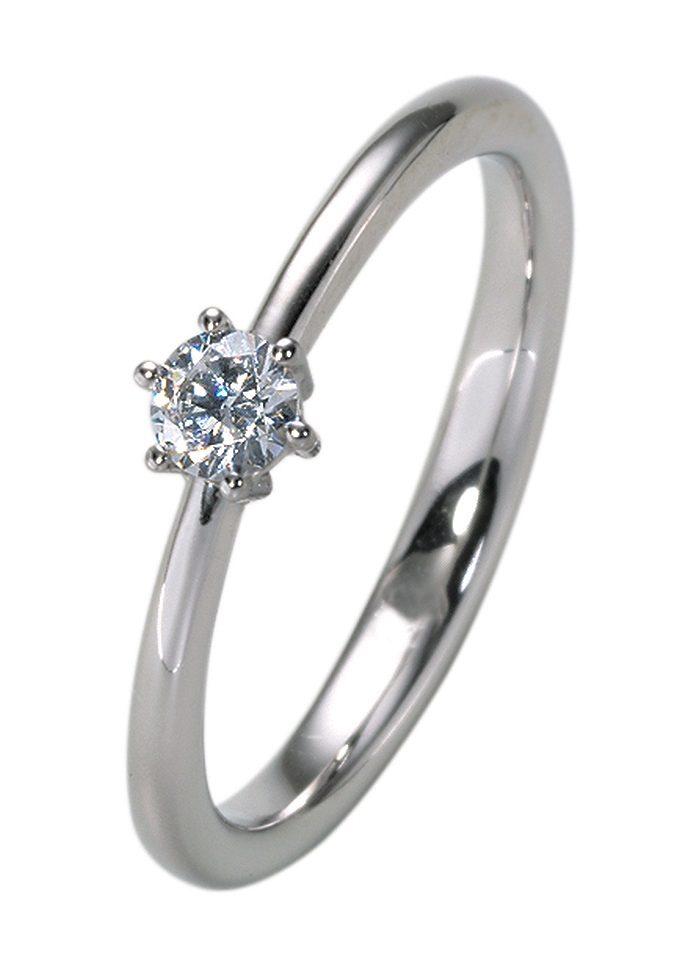 firetti Ring Vorsteckring  Verlobungsring mit Diamant