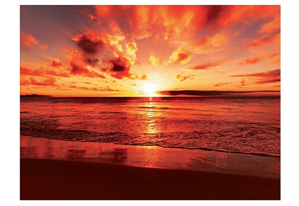 Home affaire Glasbild Beautiful tropical sunset on the beach 8060 cm online kaufen  OTTO