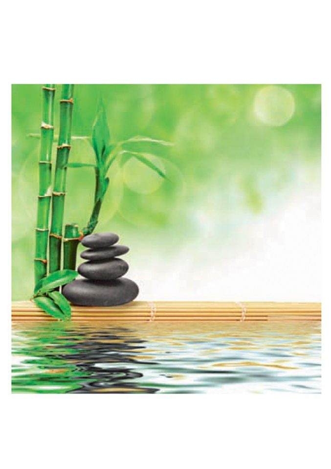 Home affaire Glasbild Spa concept zen basalt stones 30