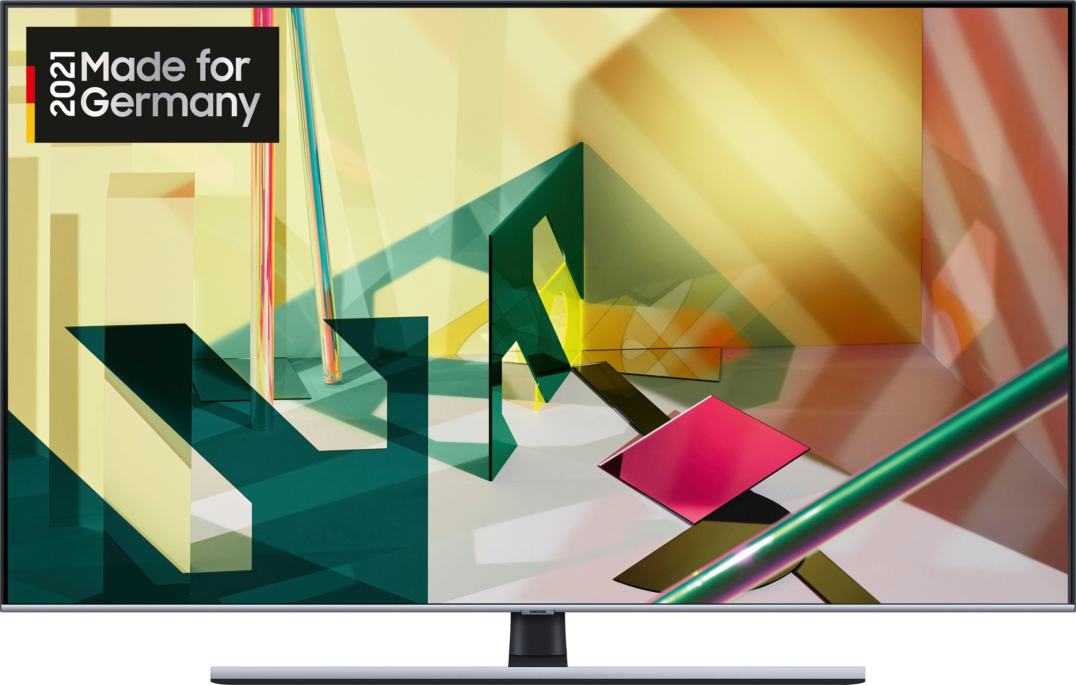 samsung gq75q75tgt qled fernseher 189 cm 75 zoll 4k ultra hd smart tv