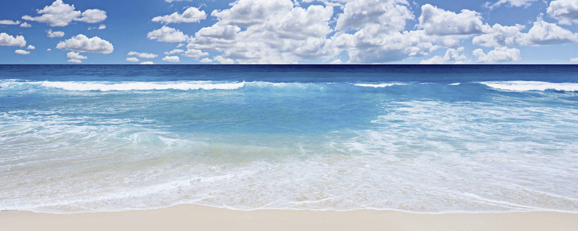 Home affaire Glasbild »Strand und Meer« Motiv