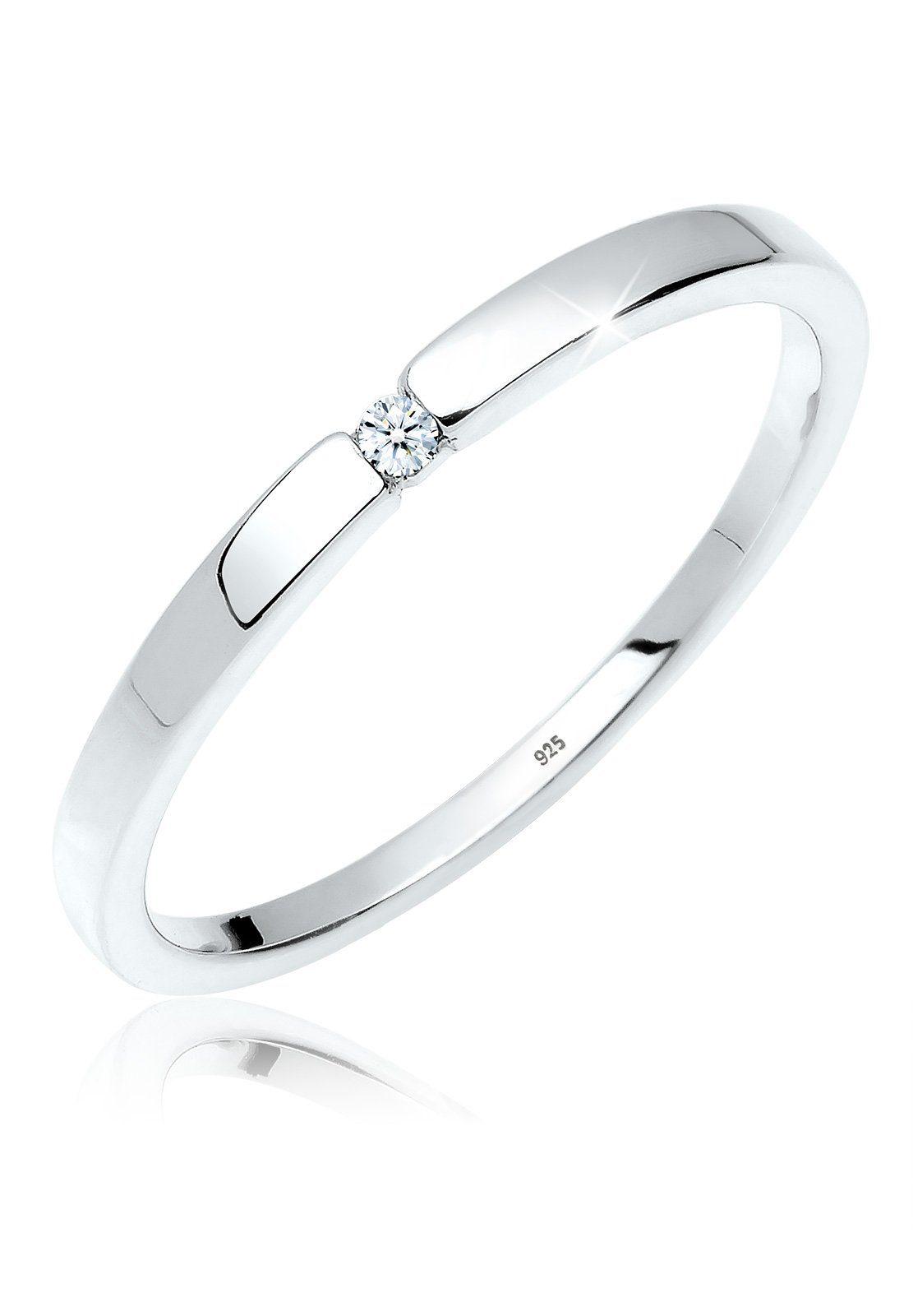 Diamore Ring Verlobungsring Klassiker Diamant 002 ct