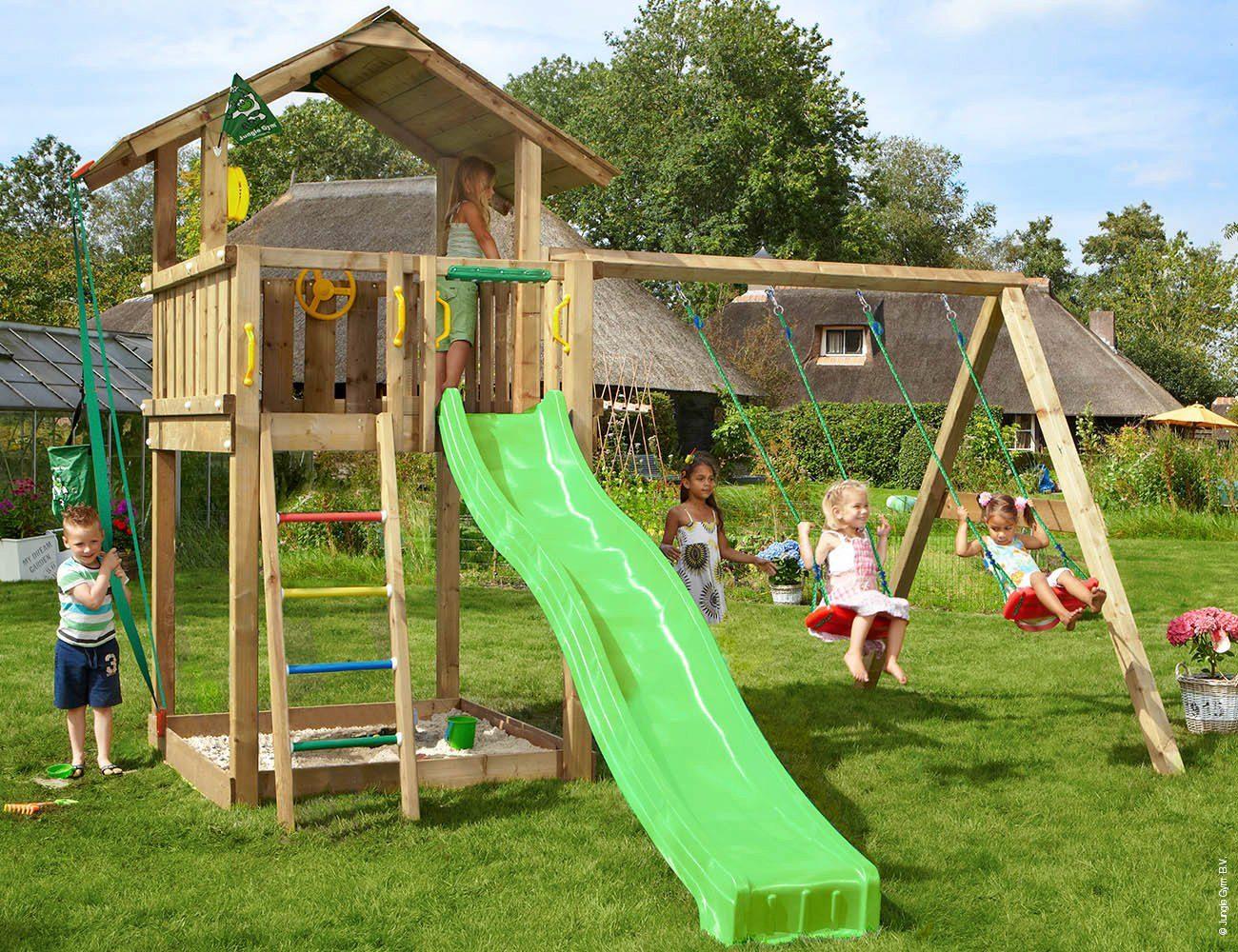 Jungle Gym Spielturm »Jungle Chalet«, BxTxH 200x390x310 ...