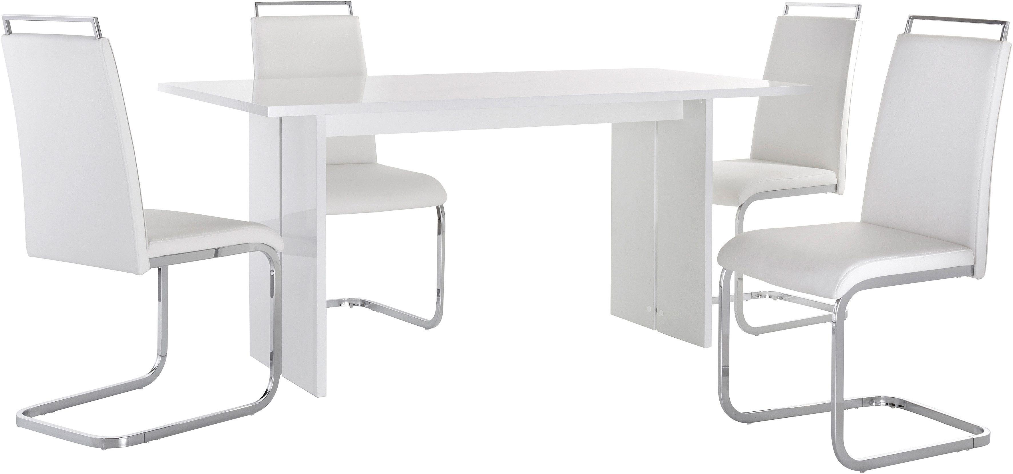 Eethoek bestaande uit 1 tafel en 4 stoelen online