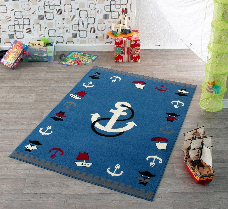 Teppich Maritim Kinderzimmer Teppich Rund Anker
