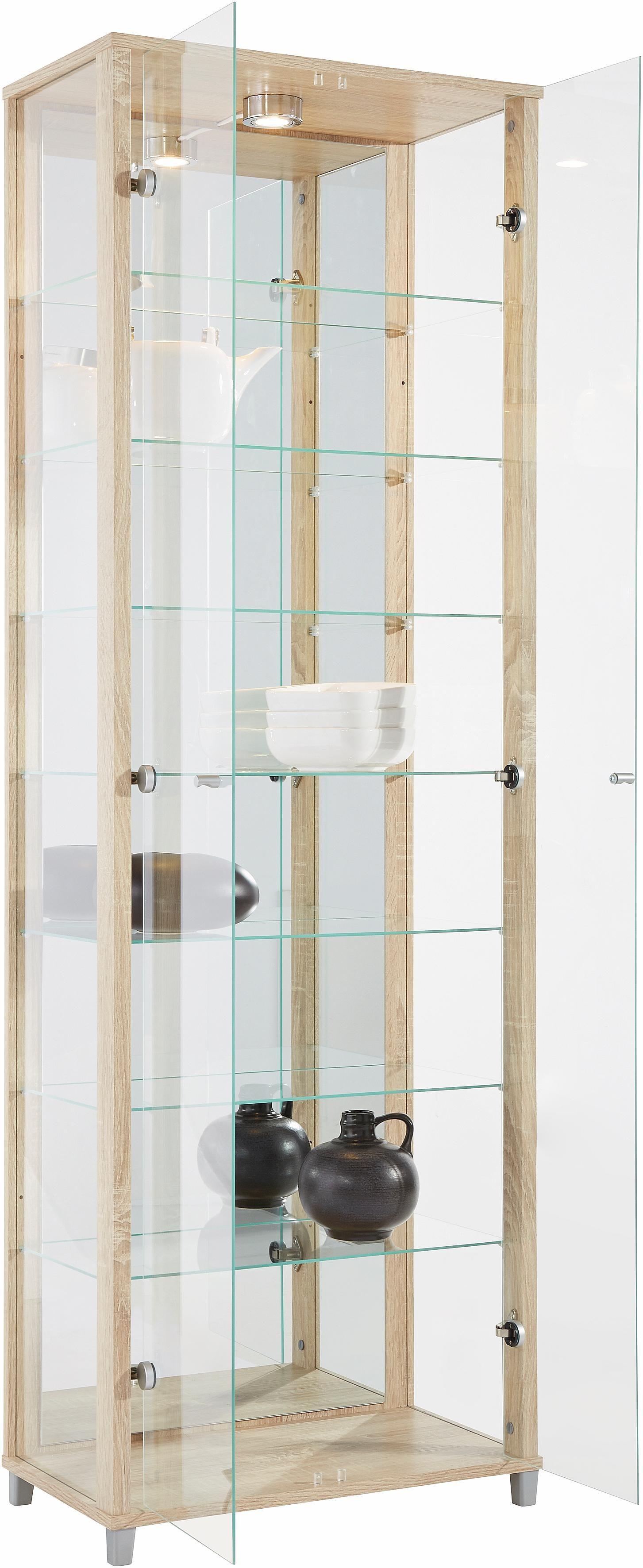 Vitrinekast met spiegelachterwand  7 glasplateaus online