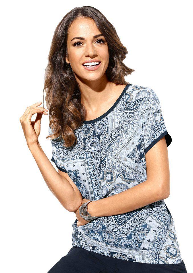 Classic Inspirationen Shirt In Trendy Materialenmix Online