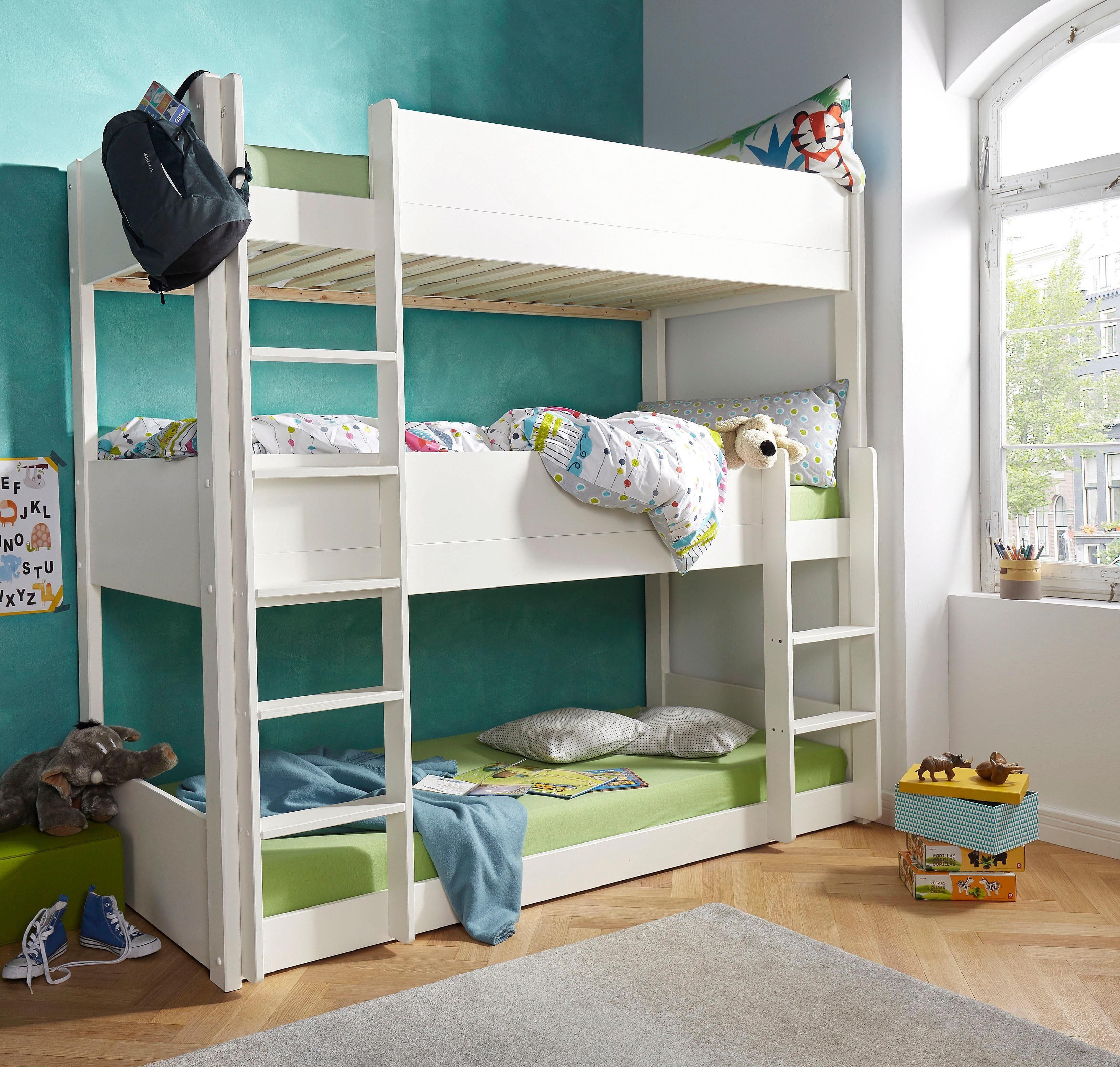 Stapelbed Hoogglans Wit.Kinderkamer Hoogslaper Hoogslaper Nordic Xl Van Bopita Laagste