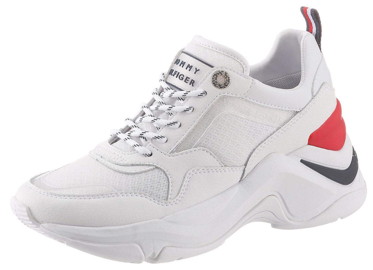 tommy hilfiger sneakers met sleehak »alva 1c« wit