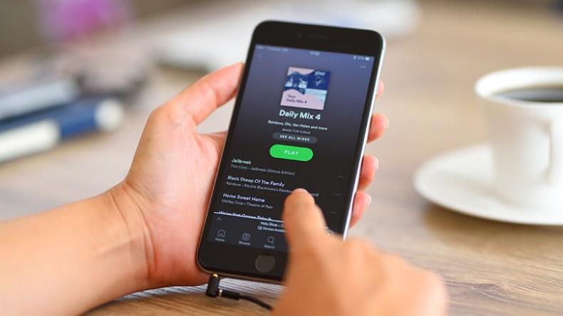 spotify playlist on a smartphone